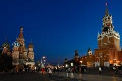 Известная красная площадь в Москве, России Стоковое Изображение