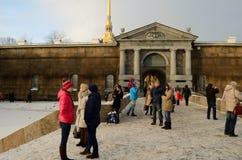 Известная крепость Питера и Пола Стоковое Изображение RF