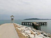 Известная привлекательность пляжа популярная в Таиланде Стоковое фото RF