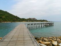 Известная привлекательность пляжа популярная в Таиланде Стоковые Изображения