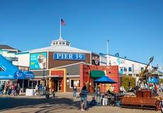 Известная пристань 39 на порте Сан-Франциско Стоковые Фотографии RF