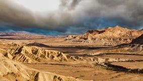 Известная пустыня Негев в Израиле на заходе солнца Timelapse сток-видео