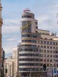 Известная реклама Schweppes на здании Calleo квадратном Стоковая Фотография RF