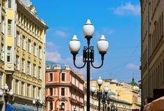 Известная улица Arbat - Москва Россия Стоковые Изображения RF