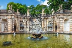 Известная художественная галерея дворца Zwinger (Der Dresdner Zwinger) Dres Стоковая Фотография RF