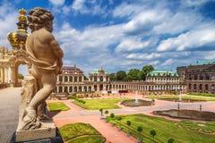 Известная художественная галерея Der Dresdner Zwinger дворца Zwinger Dres Стоковые Изображения RF
