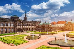 Известная художественная галерея Der Dresdner Zwinger дворца Zwinger Dres Стоковые Фотографии RF
