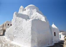 Известная церковь Panagia Paraportiani в Mykonos стоковое изображение