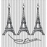 известная Эйфелева башня места Франции самого лучшего бесплатная иллюстрация