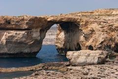 Известное лазурное окно Остров Gozo, Мальта Стоковые Изображения RF