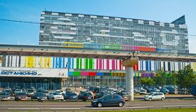 Известное здание центра Ostankino технического стоковое изображение