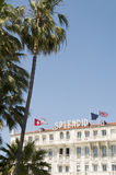 Известное зодчество Канны Франция гостиницы Стоковое Изображение