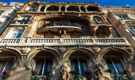 Известное здание Lavirotte, Париж, Франция Стоковые Фотографии RF