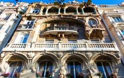 Известное здание Lavirotte, Париж, Франция Стоковые Фото