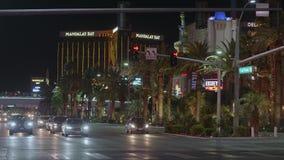 Известное Лас Вегас Боулевард на ноче также вызвало прокладку - США 2017 сток-видео