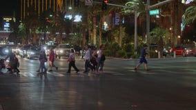 Известное Лас Вегас Боулевард на ноче также вызвало прокладку - США 2017 видеоматериал