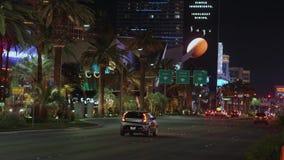 Известное Лас Вегас Боулевард на ноче также вызвало прокладку - США 2017 акции видеоматериалы