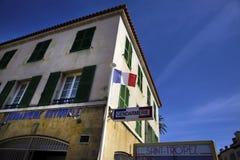 Известное отделение полици в St Tropez стоковое фото rf