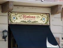 Известное угловое Homero Manzi в районе Буэносе-Айрес Аргентине Boedo Стоковые Изображения