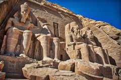 Известное ЮНЕСКО Abu Simbel Ramses II стоковые изображения rf