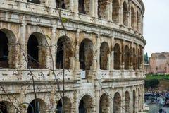 Известное Colosseum в Риме - Colisseo - огромная туристическая достопримечательность в городе стоковое фото