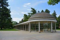 Известное kolonada в Central Park в городе Podebrady, чехии Стоковое Изображение RF