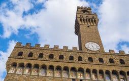 Известное Palazzo Vecchio в Флоренсе - дворец Vecchio в историческом центре города стоковое изображение