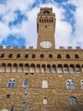 Известное Palazzo Vecchio в Флоренсе - дворец Vecchio в историческом центре города стоковое фото rf