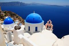 известное santorini острова Греции стоковые изображения rf