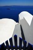 известное santorini острова Греции Стоковые Изображения