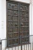 Известные бронзовые западные въездные ворота собора StSophia Стоковая Фотография RF