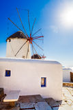 Известные ветрянки Mykonos Стоковое Изображение