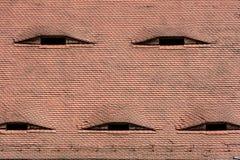 Известные глаза Крыша с похожими на глаз окнами Стоковая Фотография RF