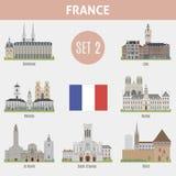 Известные города мест в Франции Стоковые Изображения