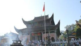 Известные горы китайского буддизма jiuhuashan Стоковое Фото