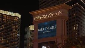 Известные гостиница и казино Монте-Карло в Лас-Вегас - США 2017 сток-видео