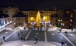 Известные испанские шаги в Рим - большую туристическую достопримечательность стоковое изображение