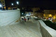 Известные испанские шаги в Рим - большую туристическую достопримечательность стоковая фотография rf