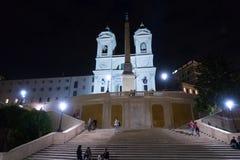 Известные испанские шаги в Рим - большую туристическую достопримечательность стоковые фото