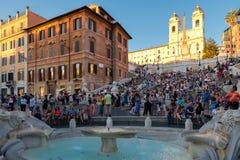 Известные испанские шаги и аркада d Spagna в Риме Стоковое фото RF