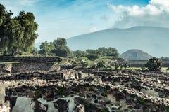 Известные и majestuous мексиканские археологические раскопки Стоковые Фото
