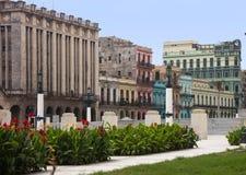 Известные красочные здания и театр в центре города Гаваны Стоковое Изображение