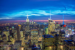 Известные небоскребы Нью-Йорка Стоковая Фотография RF