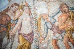 Известные римские мозаики Paphos, Кипр стоковые изображения rf