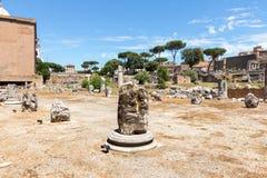Известные римские руины в Риме Стоковая Фотография RF
