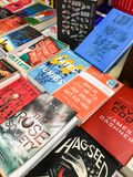 Известные романы английской литературы для продажи в книжном магазине библиотеки стоковое изображение