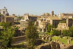 Известные старые руины в Риме стоковые фотографии rf