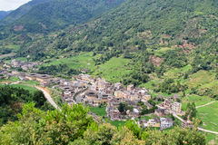Известные традиционные деревни стоковое фото