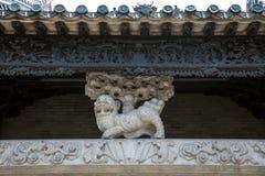 Известные туристические достопримечательности в зале Chen китайца города Гуанчжоу родовой, части частей структуры здания сделанны Стоковые Фотографии RF
