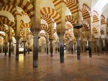 Известные штендеры в большой мечети в Cordoba стоковая фотография rf